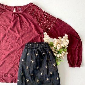 Old navy -black star skirt